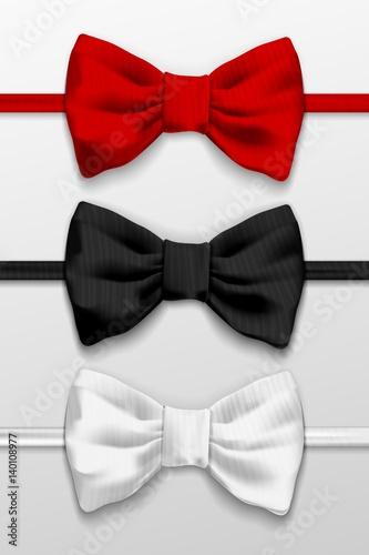 Fotografia Realistic bow tie illustration