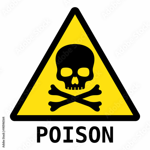 Valokuvatapetti Poison sign