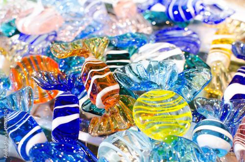 Fotografia caramelle di vetro di murano
