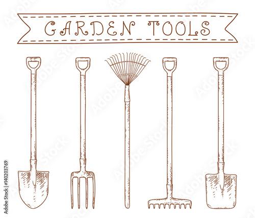 Obraz na plátne garden tools