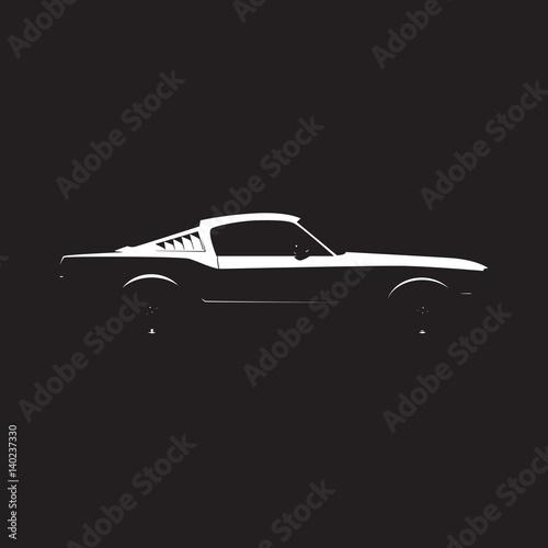 Obraz na plátně Vector muscle car silhouette