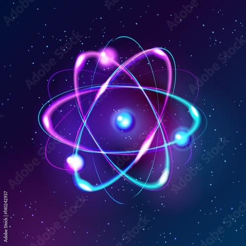 Photographie Blue Shining atom scheme