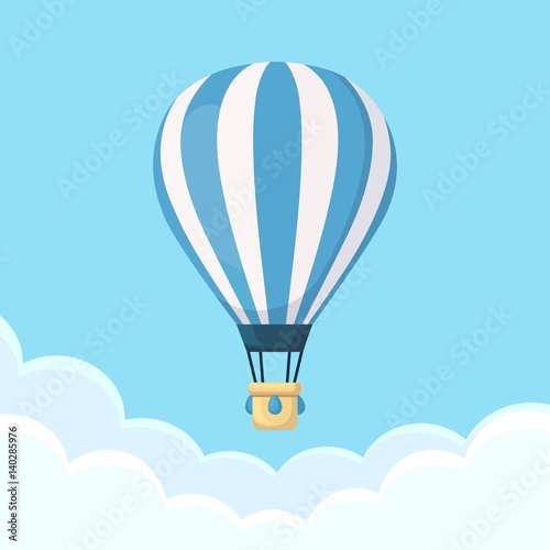 Fotografia Hot air balloon in the sky with clouds