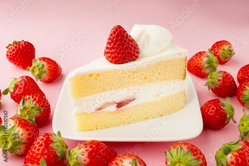 Fényképezés いちごのショートケーキ