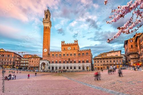 Fototapeta Piazza del Campo in Siena, Italy
