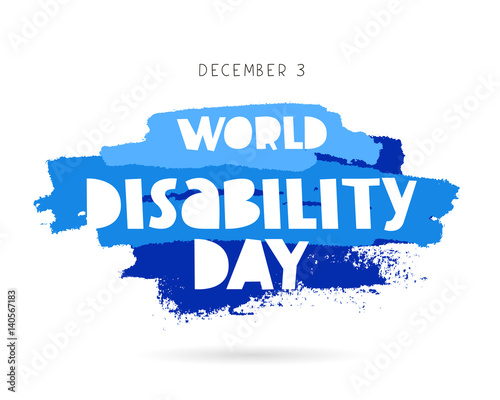 Foto World Disability Day. Concept cards