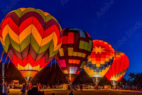 Canvas-taulu Hot Air Balloons Launching at Dawn