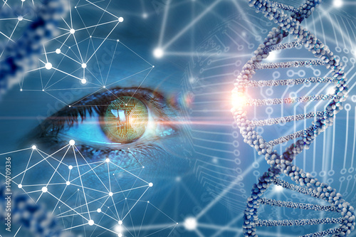 The study and observation of DNA.