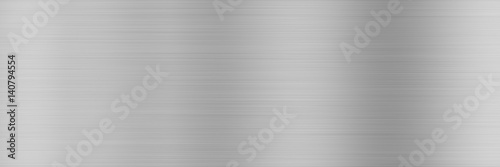 Large metal banner gray background