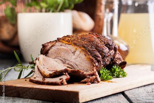 Roasted shoulder of pork