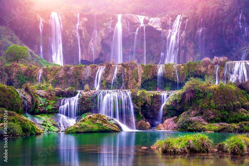 Obraz na plátně Jiulong waterfall in Luoping, China.