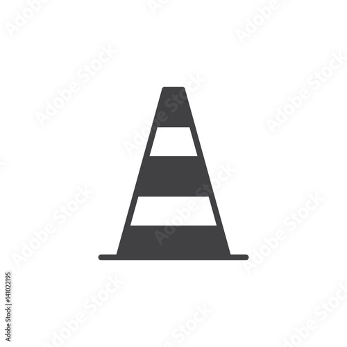 Canvas Print Pylon, traffic cone icon vector, filled flat sign, solid pictogram isolated on white