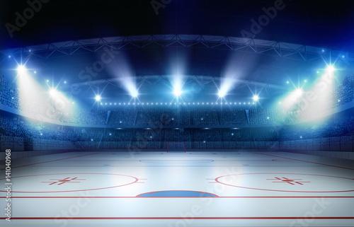 Photo Ice hockey stadium 3d rendering