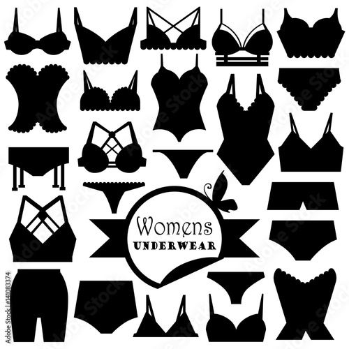 Fotomural Collection of women's underwear.