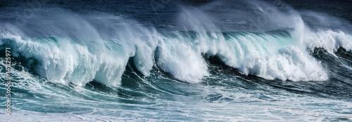 Leinwand Poster big sea wave