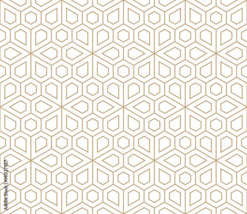 Αφίσα abstract geometric simple floral grid deco pattern
