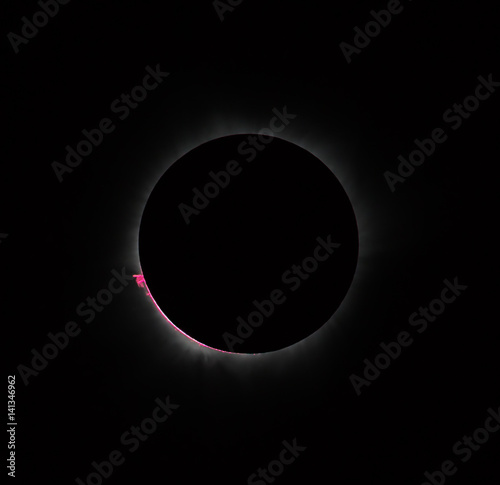 Great prominence and internal corona during a total solar eclipse on March 9, 2016. An observation from Tidore island, Indonesia (This is an original photo! Not NASA public pictures!).