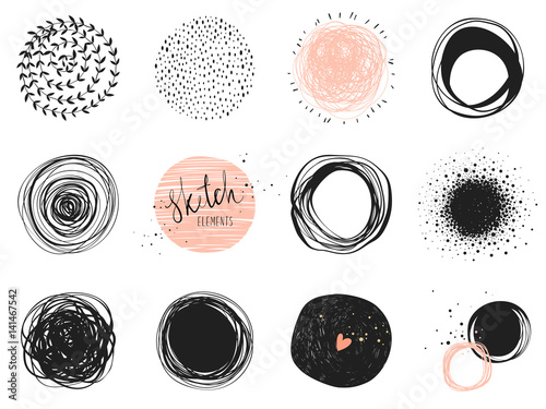 Abstract circle clip art elements Fototapeta