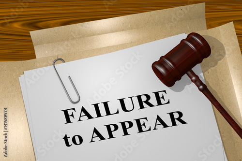 Fotografija Failure to Appear - legal concept