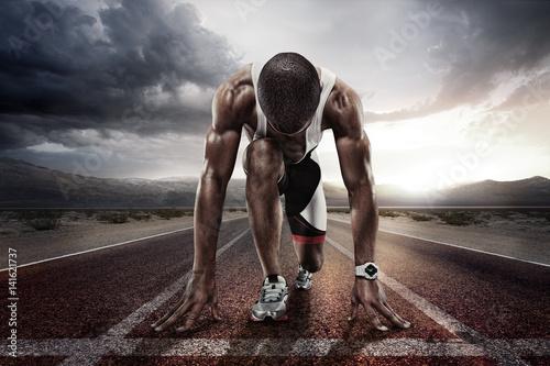 Sport. Starting runner.