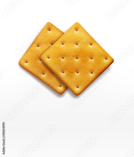 Vászonkép two vector cracker isolated on white background