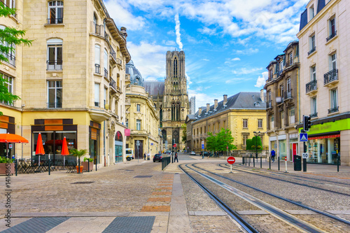 Foto Architecture of Reims, a city in the Champagne-Ardenne region of France