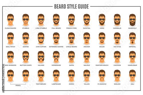 Fotografie, Obraz Beard styles guide
