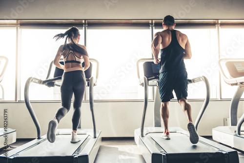 Obraz na płótnie At the gym