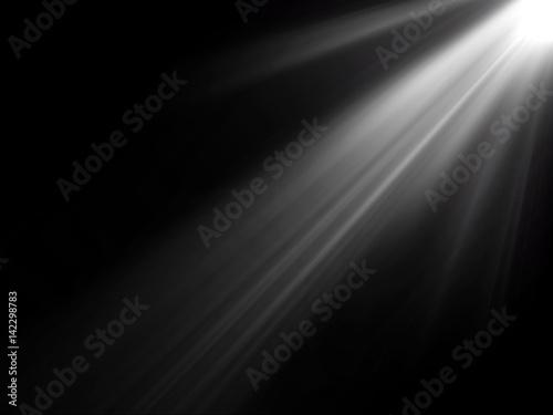 abstract beautiful rays of light on black background. Fototapeta