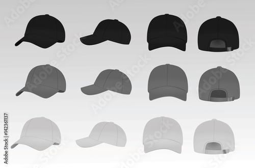 Obraz na plátně Baseball cap vector