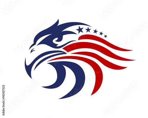 Fototapeta premium Logo patriotyczne American Eagle