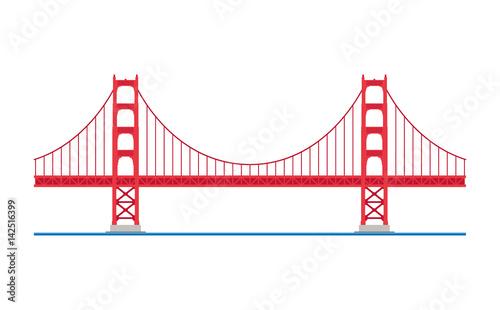 Canvas Print Golden Gate Bridge, San Francisco, USA