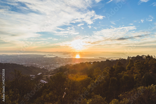 Leinwand Poster Bay Area Sunset