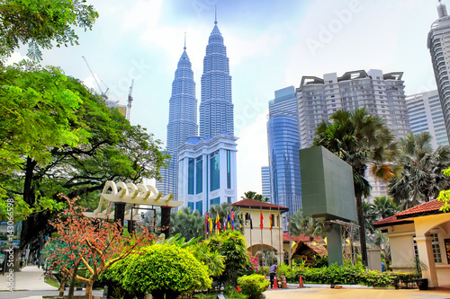 Fototapeta premium Panoramę Kuala Lumpur, Malezja
