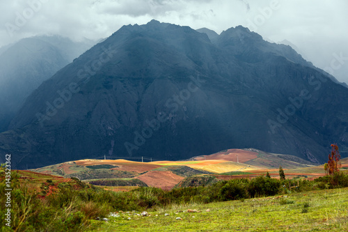 Photo Sacred Valley of the Incas in the bad weather