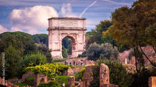 Obraz na płótnie The Arch of Titus in Roman Forum, Rome, Italy
