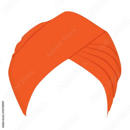 Obraz na plátně Turban headdress vector