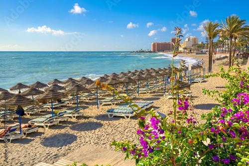 Obraz na płótnie Benalmadena beach, Malaga province, Andalusia, Spain