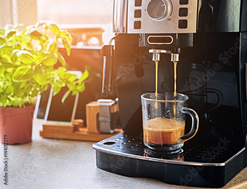 Fotografiet Professional coffee machine for home use.