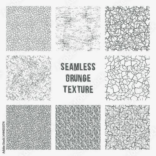 Canvas Print Set of grange seamless patterns