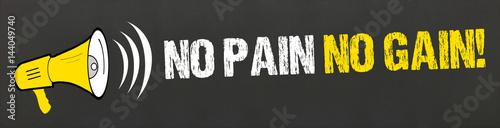 Photo No Pain No Gain! / Megafon auf Tafel