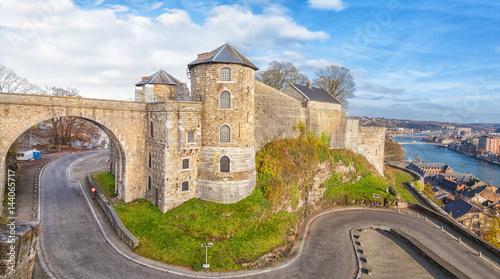 Canvas Print Panoramic view on Citadel in Namur, Belgium