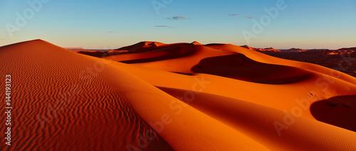 Fotografia Sand dunes in the Sahara Desert, Merzouga, Morocco