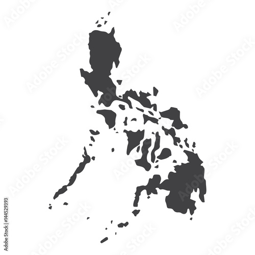 Photo Philippines map in black on a white background
