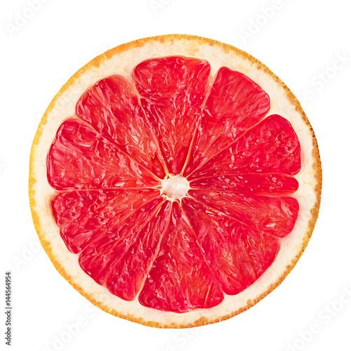 Obraz na płótnie Grapefruit on white isolated background