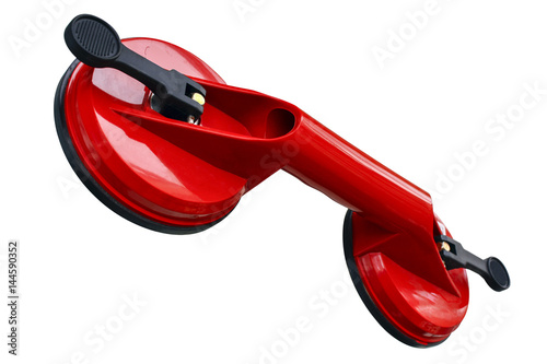 Fotografia Sucker for glass transportation isolated on a white background