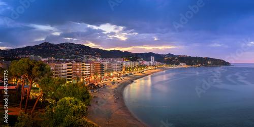 Obraz na płótnie Panorama of Lloret de Mar in the Morning, Costa Brava, Catalonia, Spain