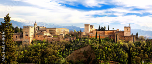 Canvas Print Granada, Alhambra