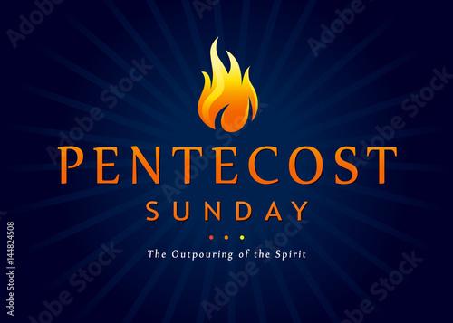 Photo Pentecost Sunday fire banner