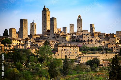 Fotografie, Tablou old town San Gimignano